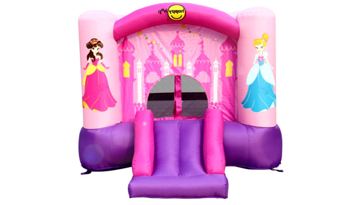 Happy Hop 9201P Princess Slide and Hoop Bouncer